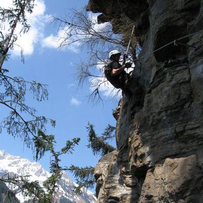 Kletterer im Seil