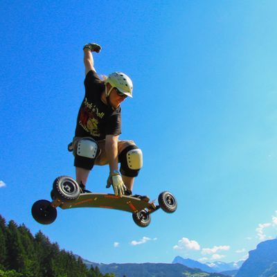Mountainboarding Sprung