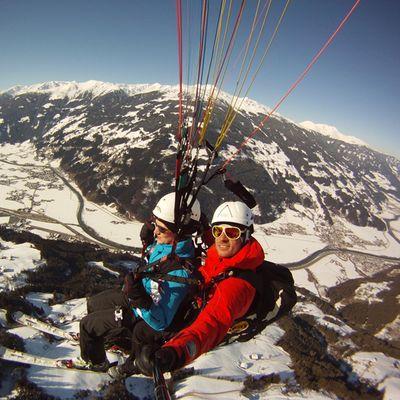Paragliden im Winter