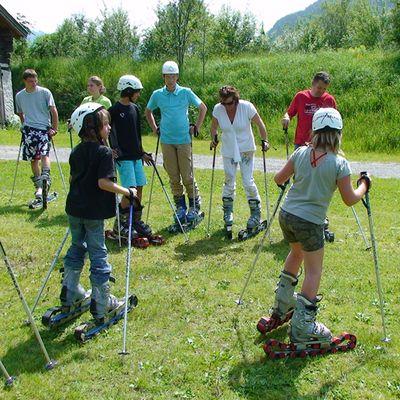 Skifahren auf Gras