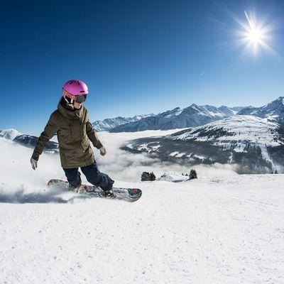 Snowboardfahren im Zillertal