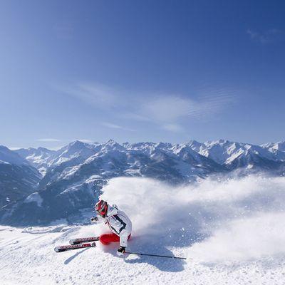 Skifahren mit Panorama