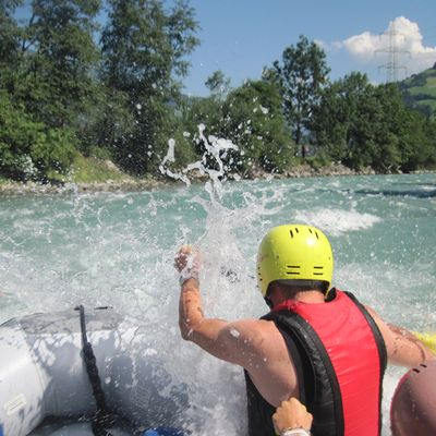 Paddeln beim Rafting