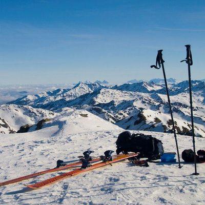 Skitour mit schönen Ausblick
