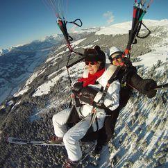 Paragliden bei kälteren Wetter